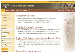 Picture of African American Heritage Homepage