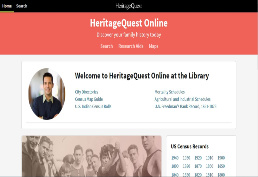 Heritage Quest Hompage picture